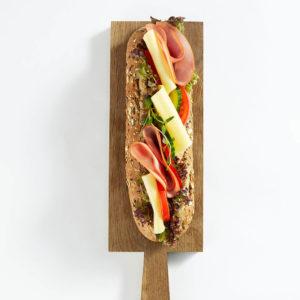 Baguette med ost og skinke - Meny Catering