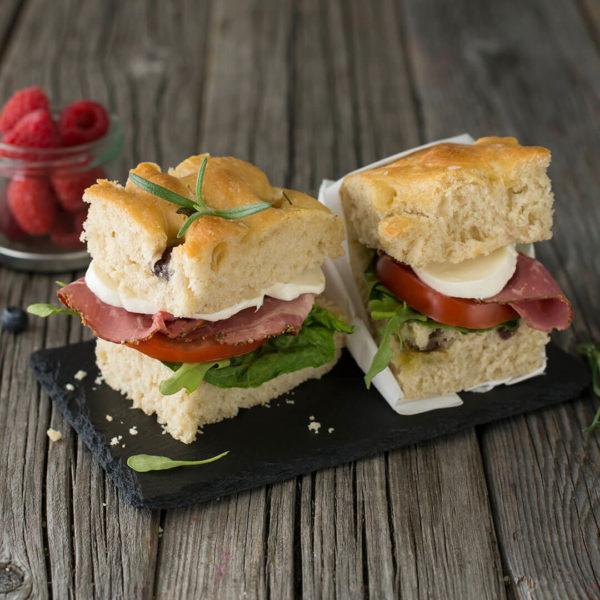 Møtepakke - Foccacia med spekeskinke - Meny Catering